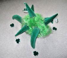 Green Fur Lucky Hat Jester Hat Hanging Shamrocks Irish Party Parade Hat