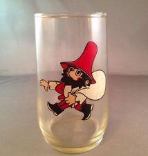 Vintage 1960s Rumcajs Drinking Glass Czech Fairy Tale Cobbler Red Hat Cartoon