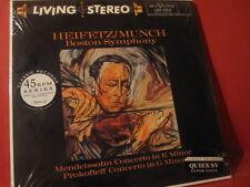 """HEIFETZ/MUNCH """"MENDELSSOHN-PROKOKFIEFF""""(180GRAM-CLASSIC-REC/45RPM-LP-SET/SEALED)"""