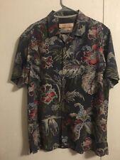Tommy Bahama Hawaiian Shirt Aloha Button Front Short Sleeve Flowered Size Large