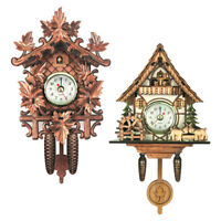 Set of 2 Cuckoo Clock Battery Powered Wall Clock Crafts for Home Wall Decor