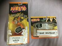 Naruto Uzumaki Nine-Tailed Fox Figur + Sand Headband / Stirnband Neu Ovp Mattel