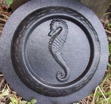 Seahorse mini birdbath mold bird feeder plastic mould