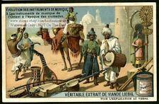 Crusade Era Arabian Musical Instruments 1910 Trade Ad Card