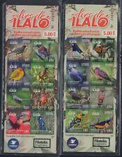 ECUADOR 2019 SELF-ADHESIVE BOOKLET LOT X 2 BIRDS OF ILALO