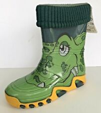 Demar Kids Boys Girls Character Wellie Boots Size 34/35 Rain Fleece-Lined Croc
