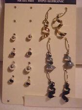 Ribbon Twist Earring Set of 7 Crystal Stud Earrings Hypo Allergenic