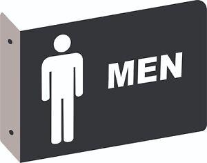 Restroom Sign Men 2d Projection Wall Mount Aluminum