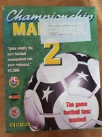 RARE Championship Manager 2 Domark Pc Box Only (no Disc)