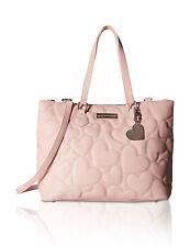 Betsey Johnson Triple Compartment Large Shoulder Handbag Satchel Tote Purse Bag