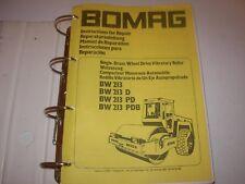 Bomag BW213 BW213D BW213PD BW213PDB Vibratory Roller Service Repair Manual