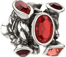 Authentic Chamilia Element Charm 925 Silver Marquis Red Swarovski JC-2F