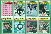 1977 TOPPS PHIlLADELPHIA EAGLES TEAM SET  NM/MT  CARMICHAEL  VINCE PAPALE RC