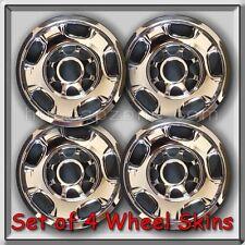 "4 Chrome Chevrolet Wheel Skins Hubcaps 17"" 2011-2016 Chevy Silverado Truck 3500"