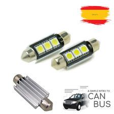 2 Bombillas Coche C5W 36MM con 3 LEDS Recambio Luz Posición Matrícula Interior