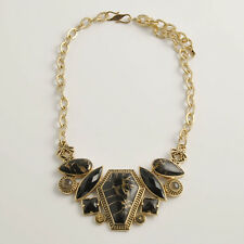 Barse Jewelry Metal Infused Black Onyx Bronze Necklace
