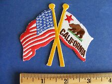 usa/california flag patch (cut out, no background)