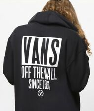 VANS Off The Wall Mens Black Long Sleeve Pullover Hoodie - Size M