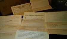 Antique 1895 Oak Grove Cemetery Deeds Coldwater Michigan 6 Documents Family Plot
