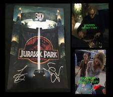 Jurassic Park signed poster Laura Dern 11x17 photo Jeff Goldblum World Fallen
