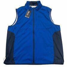 Ralph Lauren RLX Men's Water Repellent Full Zip Interlock Golf Vest Blue Black