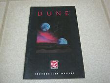 Dune instruction manual, 1992 PC Virgin Games