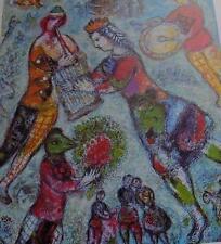 1977  MARC CHAGALL Art Print La Musicienne  MAEGHT Derrière Le Miroir