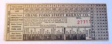 Vintage Grand Forks Street Railway Co. Streetcar & Trolley Transfer