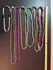 Necklace Lot Of 7 Vintage Venetian Tribal Millefiori