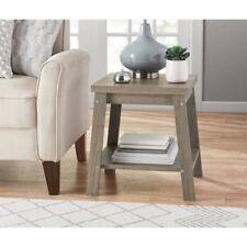 End Table Furniture Storage Shelf Side Wood Rustic Oak Sofa Accent Living Room