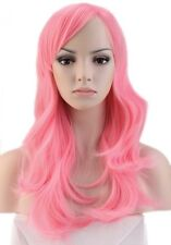 """USA Stock 23"""" Medium Full Wig Ombre Blunt Bangs Layered Wavy Heat Resistant Wigs"""