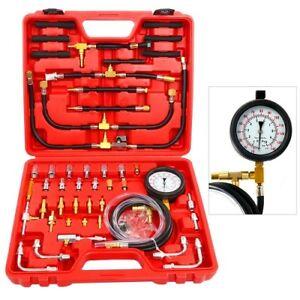 0-140PSI Fuel Injection Gauge Pressure Tester Test Kit Car System Pump Tool Set