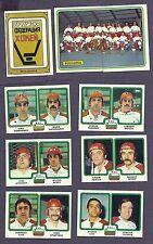 1979 Panini World Hockey Team Bulgaria, Set of Nine (Mostly Spartak)