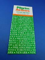 PILGRIM AIRLINES SYSTEM TIMETABLE SCHEDULE ADVERTISING DECEMBER 1985 TRAVEL