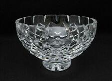 SIGNED WATERFORD CUT CRYSTAL FOOTED BOWL VINTAGE IRISH IRELAND