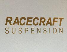 Gold Racecraft Suspension Fender Decal of 1984-1993 Foxbody Saleen Mustang