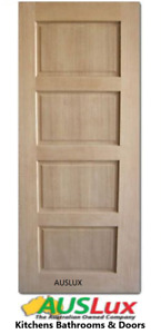 SOLID TIMBER MAPLE  HORIZONTAL 4 PANEL RECTANGLE DOOR -MANY SIZES  NEW CLEARANCE