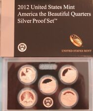 2012-S ATB QUARTERS SILVER PROOF SET ORIGINAL MINT PACKAGING and CERTIFICATE