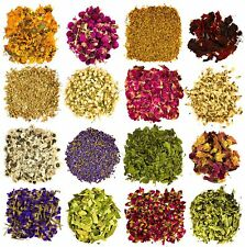 16 Bags 100% Natural Dried Flower Herbs Kit for Bath, Soap Making, Candle Making