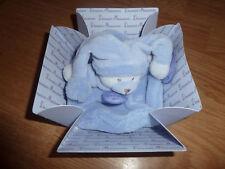 Peluche Doudou et Compagnie Ours bear orso teddy lavande plat rond bleu macaron