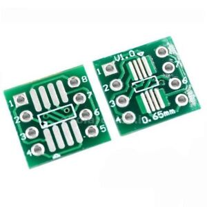 2 x SOP8 S08 SOIC8 TSSOP8 MSOP8 to DIP Adapter Converter Board SMD Breakout IC