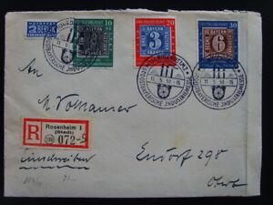 Brd  Michel 113 - 115  mit Abart 113 VI gestempelt auf Brief     172