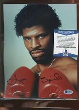 Leon Spinks Boxer Autographed 8 X 10 Photo Beckett Cert