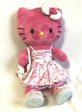 Build a Bear Hello Kitty Pink Valentine Hearts BABW Stuffed Plush RARE Dress