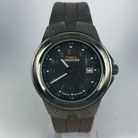 Timex Mens Expedition Indiglo 905 15 Leather Strap Date Quartz Analog Wristwatch