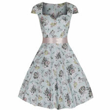 Cotton Blend Floral Dresses for Women with Cap Sleeve