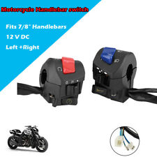 Left & Right 22mm Motorcycle Handlebar Headlight Turn Signal Horn Switch Control