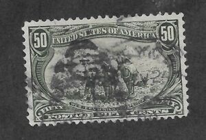 Stamp: USA 291. Trans-Mississippi Series, 50 cent issue, fine condition