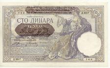 Billet banque SERBIE SERBIA YOUGOSLAVIE YUGOSLAVIA 100 DINARA 1941 UNC NEUF 760