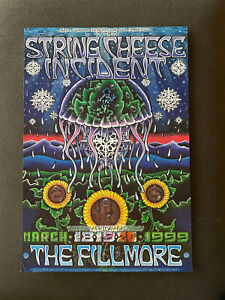 Original Concert Poster String Cheese Incident  The Fillmore March 1999 Graham